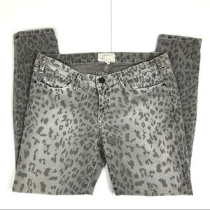 Current/Elliott Jeans - Current/Elliott The Stiletto Gray Leopard Jeans 31